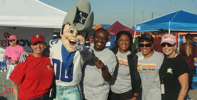 Frisco Education Foundation Leaders with Dallas Cowboys Mascot