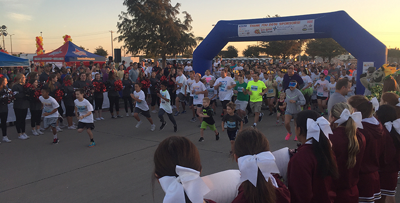 Starting Line of the 2016 Frisco Education Foundation Gary Burns Annual Fun Run