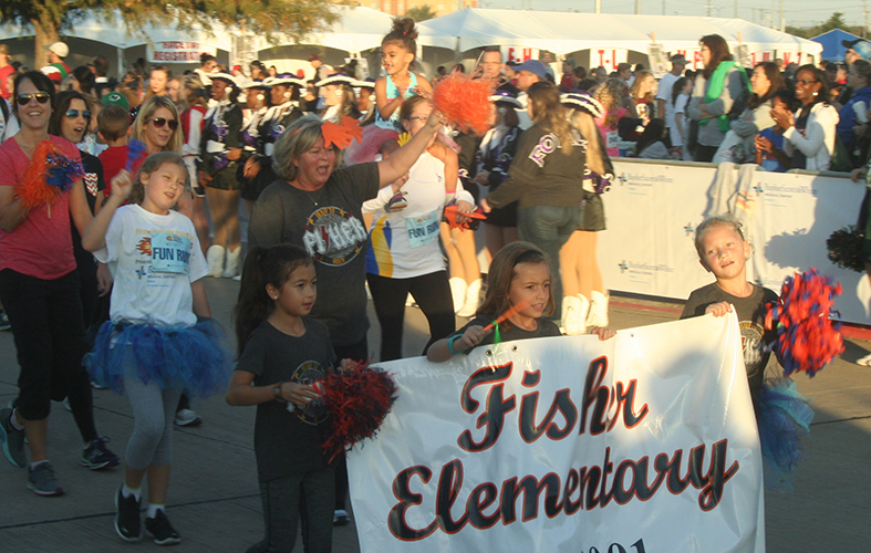 Students and Staff from Fisher Elementary Participate in Fun Run