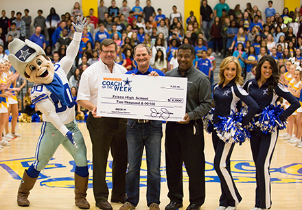 Frisco High Football Coach Honored by Dallas Cowboys
