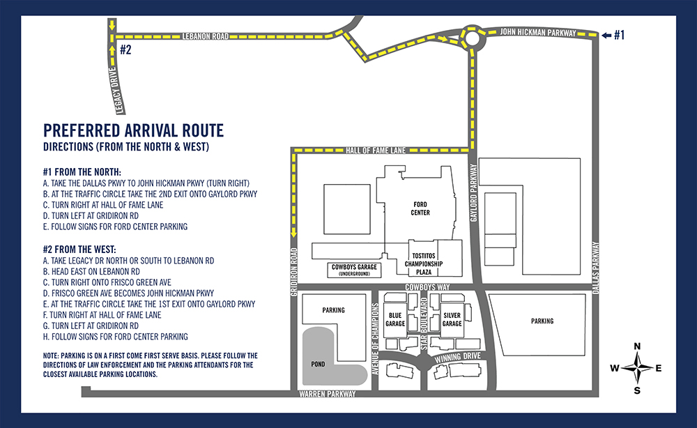 Ford Center Maps-North and West