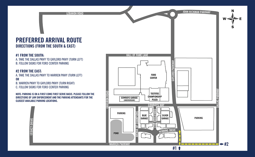 Ford Center Maps-South and East