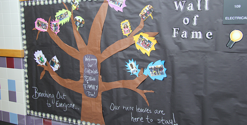 Display Welcomes New Students to Elliott Elementary