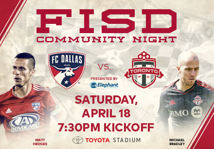 Night with FC Dallas to Support Frisco Education Foundation