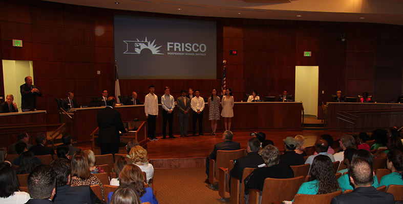 Students Honored at School Board Meeting