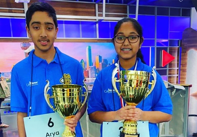 Two Students Named Co-Champions of Regional Spelling Bee